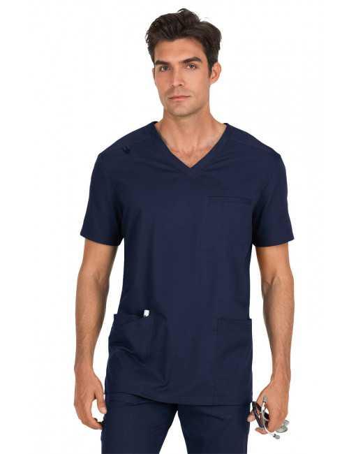 "Blouse médicale Homme Koi ""Tyler"", collection ""Koi Stretch"" (665-) bleu marine face"