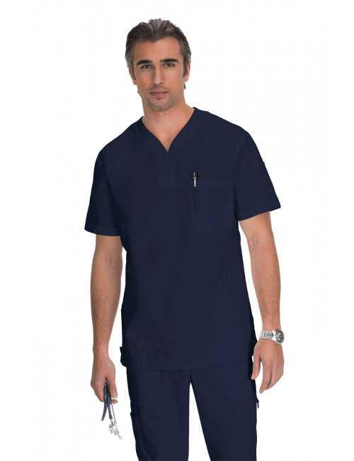 """Blouse médicale Homme Koi """"Jason"""", collection """"Koi Classics"""" (654) bleu marine vue face"""