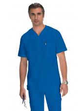 """Blouse médicale Homme Koi """"Jason"""", collection """"Koi Classics"""" (654) bleu royal vue face"""