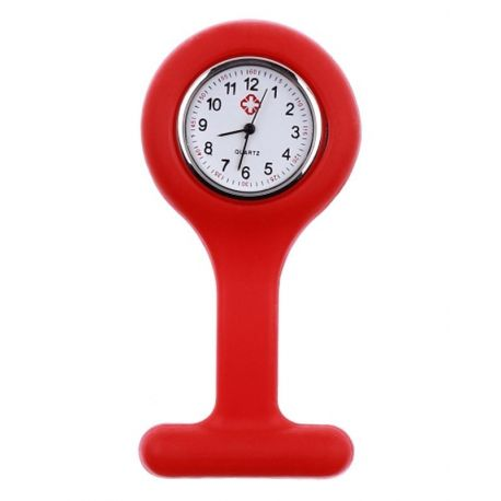 Montre Infirmière Silicone Rouge