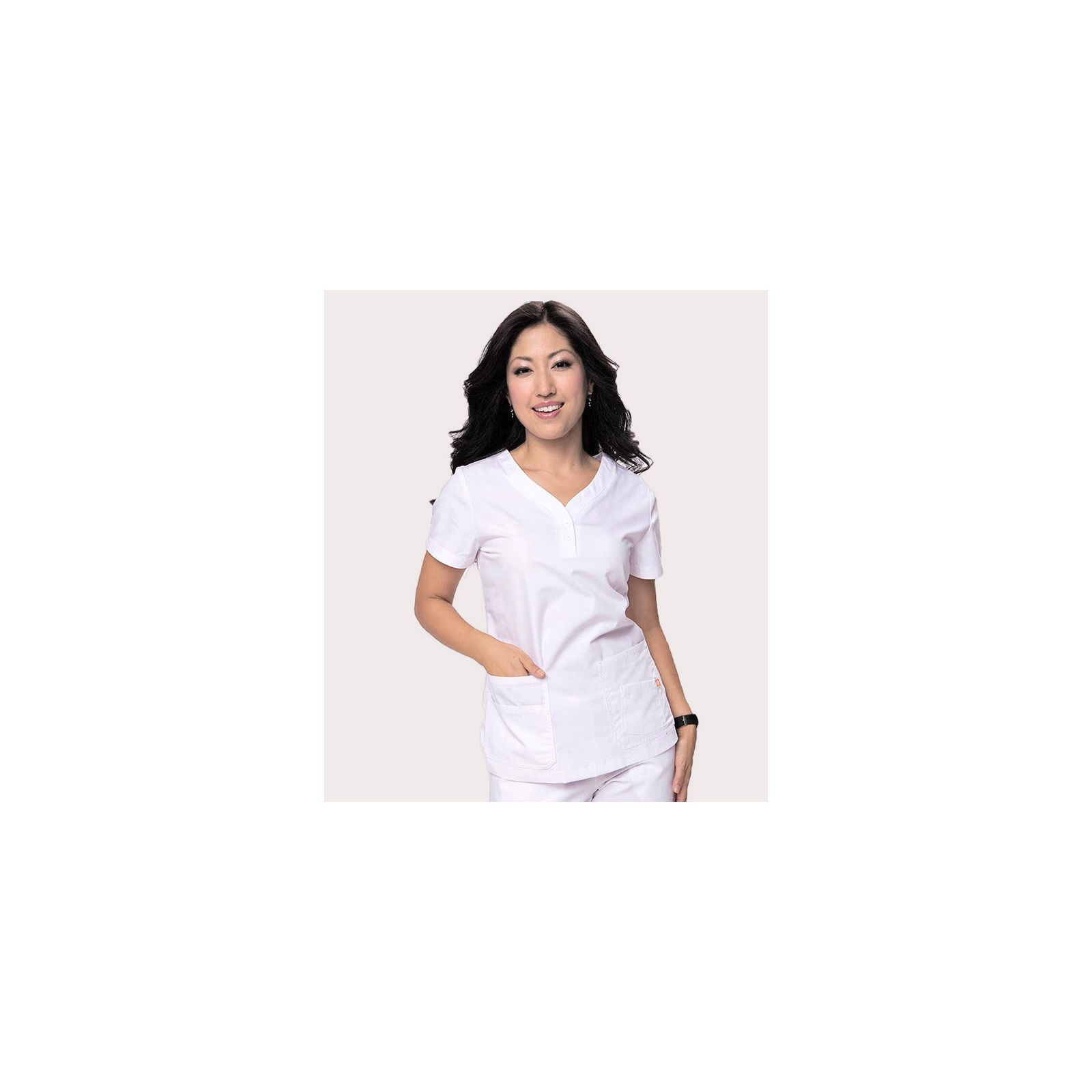 "Blouse médicale Femme ""Monterey"", Koi collection Orange (G3106) blanc"