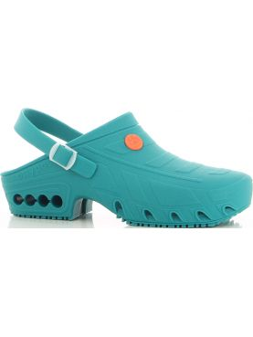 "Autoclavable Medical Shoe Teal blue, ""Oxyclog"", Oxypas"