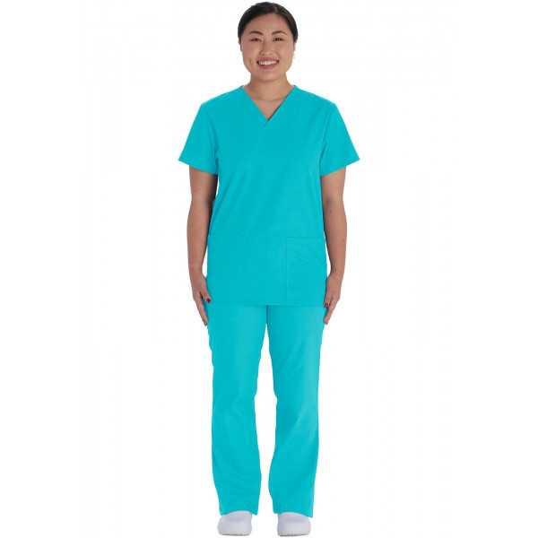 Ensemble médical Blouse et Pantalon, Unisexe, Dickies (VT526C) turquoise face