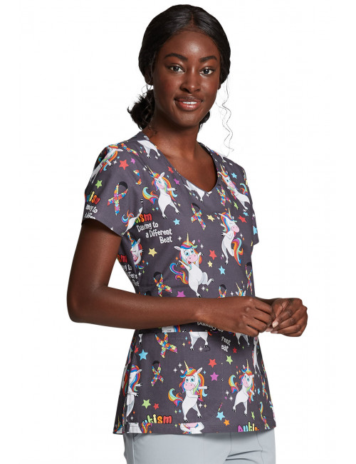 "Woman's Printed Medical Gown ""Don't Rush"", Dickies (DK704)"