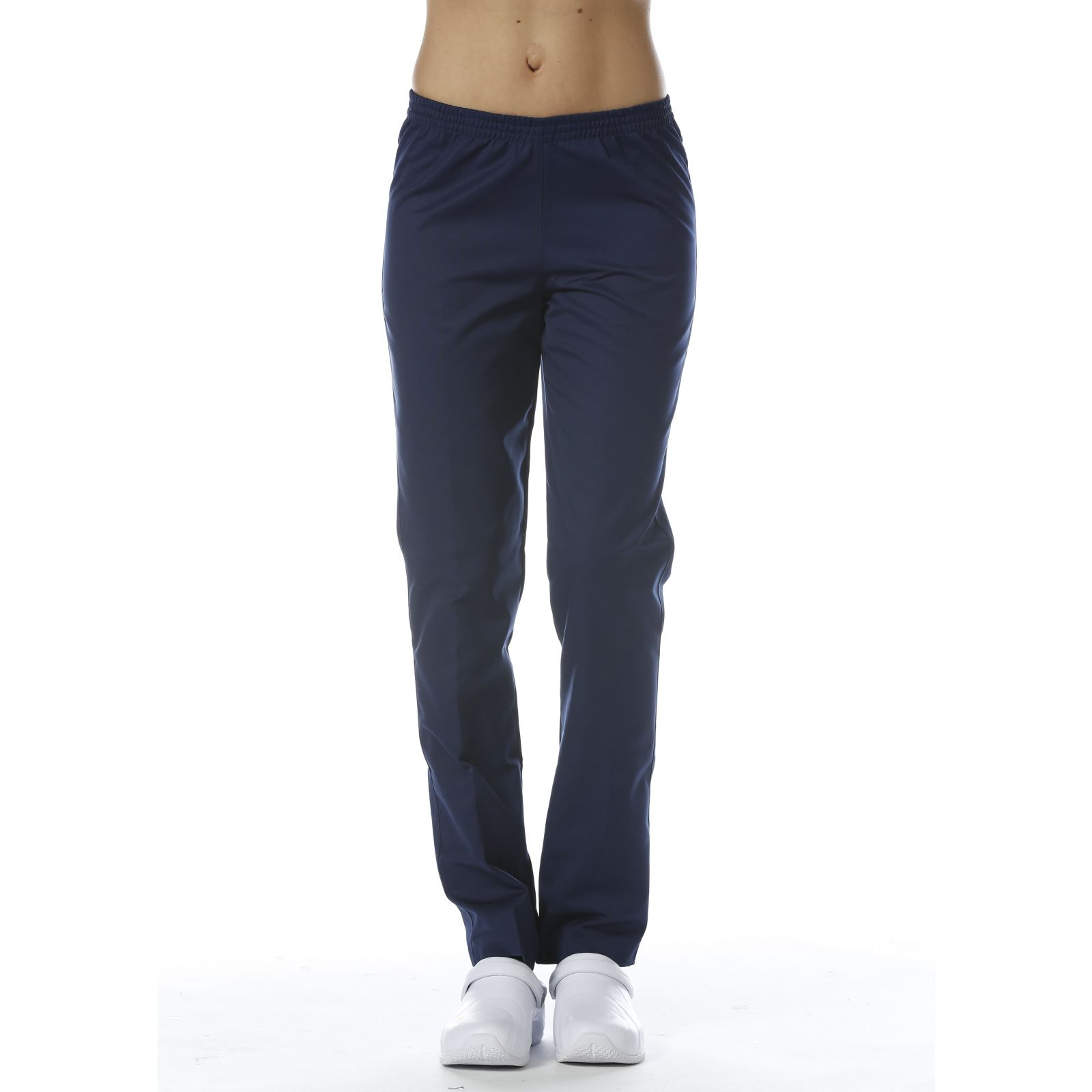 Pantalon Médical Bleu marine, Unisexe, Taille élastique, Camille Lavandie (078COM) face