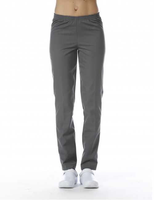 Pantalon Médical Gris Anthracite, Unisexe, Taille élastique, Camille Lavandie (078WGR) face