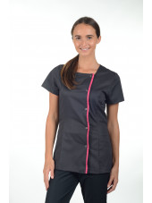 "Blouse médicale Stretch pression, femme, CMT collection ""Stretch"" (2605)"
