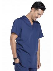 Blouse médicale Homme, 3 poches, Cherokee Workwear Originals (4876) bleu marine droite