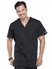 Blouse médicale Homme, 3 poches, Cherokee Workwear Originals (4876) noir vue face