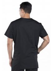 Blouse médicale Homme, 3 poches, Cherokee Workwear Originals (4876) noir vue dos