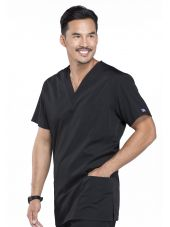 Blouse médicale Homme, 3 poches, Cherokee Workwear Originals (4876) noir vue coté