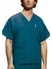 Blouse médicale Homme, 3 poches, Cherokee Workwear Originals (4876) vert caraibe face