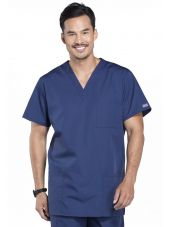 Blouse médicale Homme, 3 poches, Cherokee Workwear Originals (4876) bleu marine face
