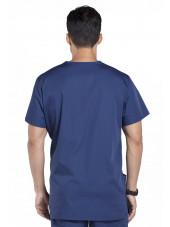 Blouse médicale Homme, 3 poches, Cherokee Workwear Originals (4876) bleu marine dos
