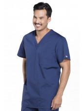 Blouse médicale Homme, 3 poches, Cherokee Workwear Originals (4876) bleu marine gauche