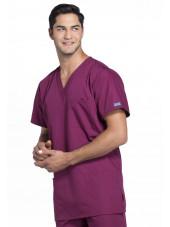 Blouse médicale Homme, 3 poches, Cherokee Workwear Originals (4876) bordeaux droite