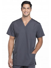 Blouse médicale Homme, 3 poches, Cherokee Workwear Originals (4876) gris anthracite face