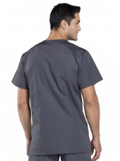 Blouse médicale Homme, 3 poches, Cherokee Workwear Originals (4876) gris anthracite dos