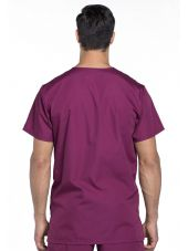 Blouse médicale Homme, 3 poches, Cherokee Workwear Originals (4876) bordeaux dos