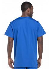 Blouse médicale Homme, 3 poches, Cherokee Workwear Originals (4876) bleu royal dos
