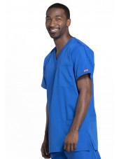 Blouse médicale Homme, 3 poches, Cherokee Workwear Originals (4876) bleu royal gauche