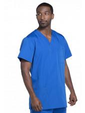 Blouse médicale Homme, 3 poches, Cherokee Workwear Originals (4876) bleu royal droite