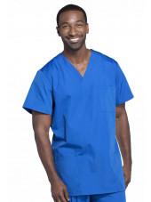 Blouse médicale Homme, 3 poches, Cherokee Workwear Originals (4876) bleu royal face