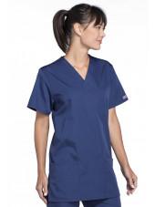 Blouse médicale Femme, 3 poches, Cherokee Workwear Originals (4876) bleu marine gauche
