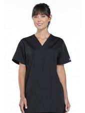 Blouse médicale Femme, 3 poches, Cherokee Workwear Originals (4876) noir face