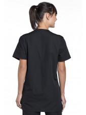 Blouse médicale Femme, 3 poches, Cherokee Workwear Originals (4876) noir dos