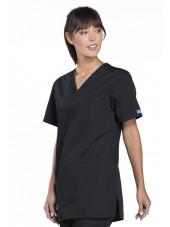 Blouse médicale Femme, 3 poches, Cherokee Workwear Originals (4876) noir coté
