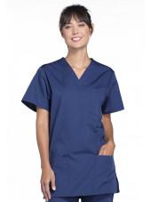 Blouse médicale Femme, 3 poches, Cherokee Workwear Originals (4876) bleu marine face