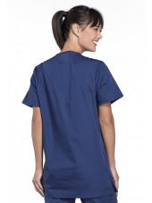 Blouse médicale Femme, 3 poches, Cherokee Workwear Originals (4876) bleu marine dos