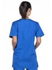 Blouse médicale Femme, 3 poches, Cherokee Workwear Originals (4876) bleu royal dos