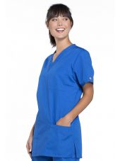 Blouse médicale Femme, 3 poches, Cherokee Workwear Originals (4876) bleu royal droite
