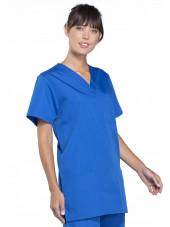 Blouse médicale Femme, 3 poches, Cherokee Workwear Originals (4876) bleu royal gauche