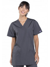 Blouse médicale Femme, 3 poches, Cherokee Workwear Originals (4876) gris anthracite face