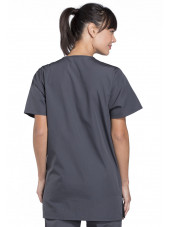 Blouse médicale Femme, 3 poches, Cherokee Workwear Originals (4876) gris anthracite dos