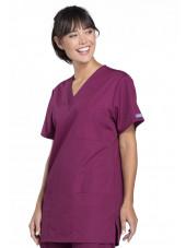 Blouse médicale Femme, 3 poches, Cherokee Workwear Originals (4876) bordeaux droite