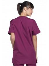Blouse médicale Femme, 3 poches, Cherokee Workwear Originals (4876) bordeaux dos