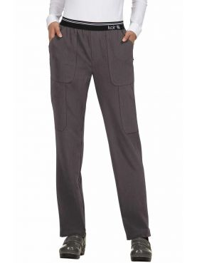 "Pantalon médical Femme Koi ""Au pas de course"", collection Koi Next Gen (738) gris chiné face"