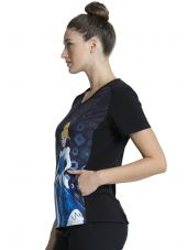"""Blouse médicale originale Femme """"Cendrillon"""", Collection Tooniforms Disney (TF637) vue gauche"""
