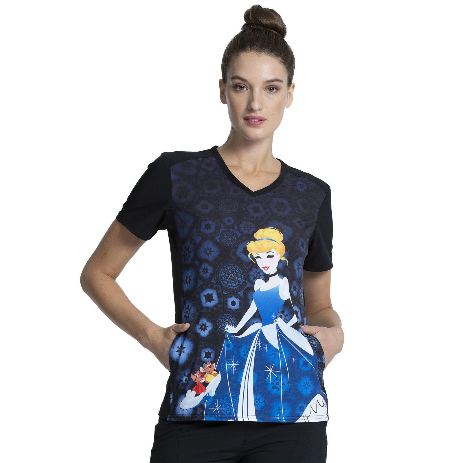 """Blouse médicale originale Femme """"Cendrillon"""", Collection Tooniforms Disney (TF637) vue face"""