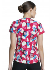 "Blouse médicale originale Femme ""Lilo et Stitch"", Collection Tooniforms Disney (TF744) vue dos"