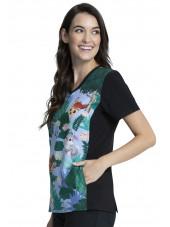 """Blouse médicale originale Femme """"Bambi"""", Collection Tooniforms Disney (TF627) vue droite"""