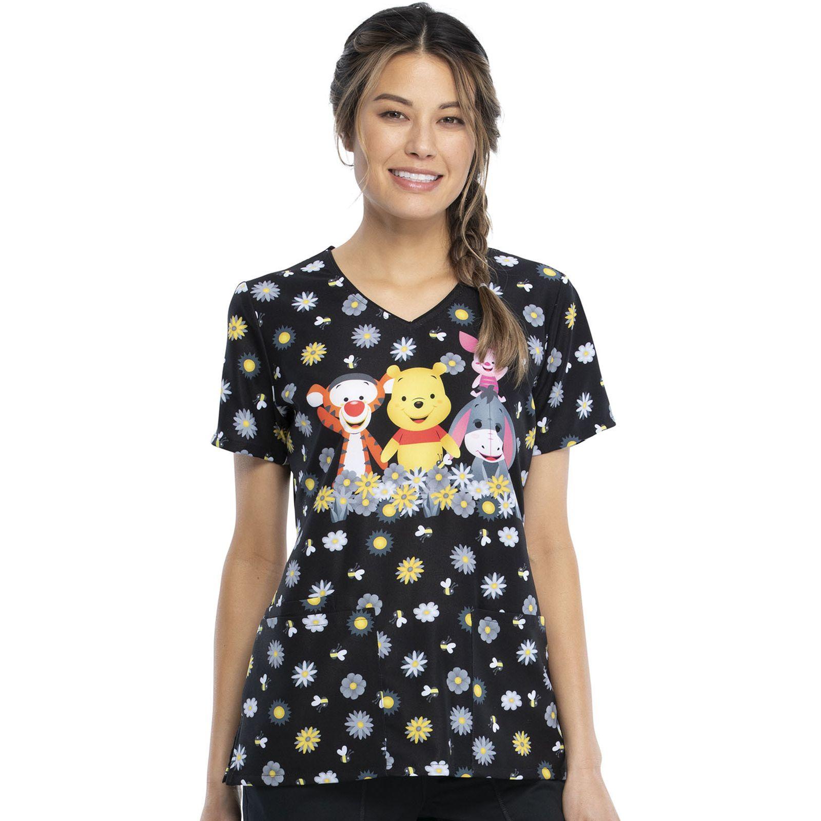 """Blouse médicale originale Femme """"Winnie l'Ourson"""", Collection Tooniforms Disney (TF614) vue face"""