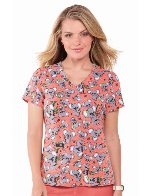 "Blouse médicale originale Femme ""Koala"", Collection Koi (384PR)"