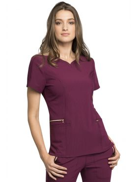 "Blouse médicale femme, Cherokee, collection ""Statement"" (CK695) bordeaux face"