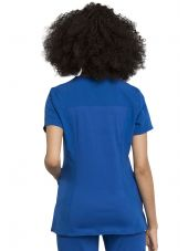 "Blouse médicale femme, Cherokee, collection ""Statement"" (CK695) bleu royal dos"