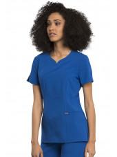 "Blouse médicale femme, Cherokee, collection ""Statement"" (CK695) bleu royal gauche"